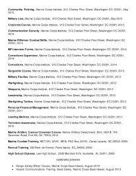 Marine Corps Resume Examples Zromtk Classy Marine Corps Resume