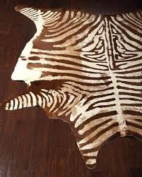 animal rugs cowhide zebra rugs at neiman marcus horchow brown zebra rug brown white zebra rug
