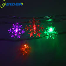 35 Light Strand Christmas Lights Us 7 86 35 Off Osiden Hot Selling 220v 5m 20led Christmas Lights Snowflake Lamp Holiday Lighting Wedding Party Decoration Curtain String Lights In