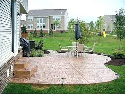 cement deck stamped concrete patio designs backyard ideas awesome landscaping t42