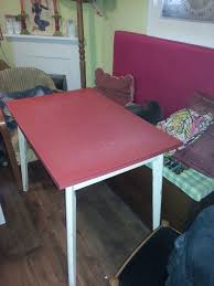 Round Formica Kitchen Table 50s Formica Kitchen Table Red Top White Legs In Lewes East