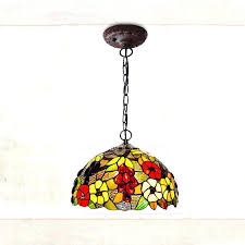 pendant light cord with switch lighting fixtures rustic g pattern stained glass shade large kitchen lights