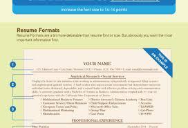 Standard Resume Font Size Resume Online Builder