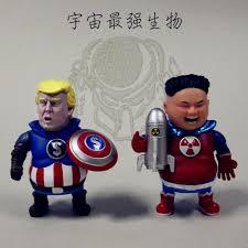 Captain America Trump President Superman Kim Jong-un Collectible Figure  Doll