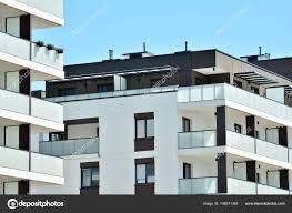Modern Apartment Building Exterior Stock Photo Grand Warszawski
