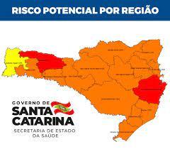 Governo corrige mapa de risco da Covid-19 e SC tem duas regiões em situação  gravíssima | Santa Catarina