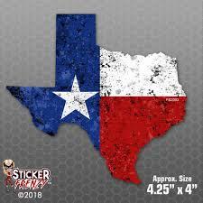 TEXAS SHAPE FLAG GRUNGE Sticker - USA Car Truck Window Bumper Vinyl Decal FS2093