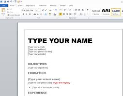 ... Good Looking How To Write A Resume On Word Do Templates ...