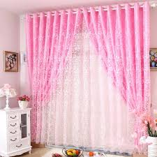 princess real finished s rustic pink flock printing customize organza sheer curtains for windowchina pink sheer