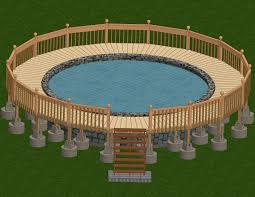 above ground swimming pool drawing. Creative Above Ground Swimming Pool Decks Plans Drawing