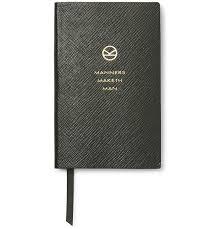 kingsman smythson panama cross grain leather notebook