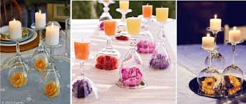 Creative centerpieces made with wine glasses (3)