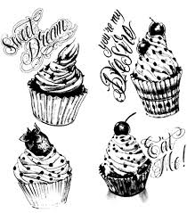 Small Picture cupcakes vintage Cup Cakes Coloring pages for adults JustColor