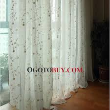 white embroidery patterned fresh style sheer curtains uk loading zoom
