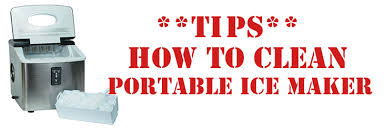 tips on cleaning a portable ice maker