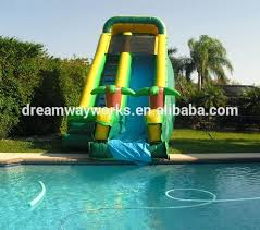 diy water slides large inflatable pool slide jungle theme giant inflatable pool companies that build water slides