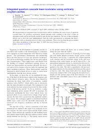 Aqw Recommendation Letter Pdf Integrated Quantum Cascade Laser Modulator Using