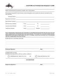 Free Time Off Request Form Template Overtime Request Form Template Authorization Legal Law 10