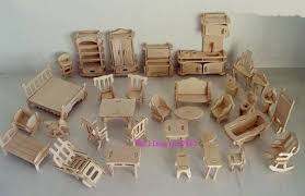 make your own doll furniture. 1:24 34pieces 3Dwoodcraft Kit Dolls House Furniture Gift Make Your Own Doll