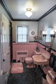 Decorating a pink and black bathroom