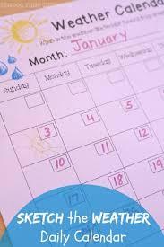 Observe Sketch Weather Chart For Preschool Teaching