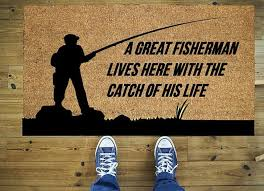 funny fisherman doormat