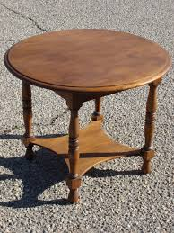 beautiful round oak coffee table antique furniture antique round oak coffeetable side table lamp
