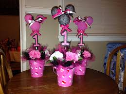 minnie mouse first birthday centerpieces