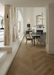 Solid French Oak Herringbone Parquet.