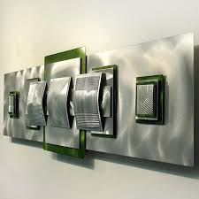 lime green metal wall art