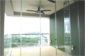 partial frameless door opened for ventilation balcony ceiling with fan robust innovative glass system true open