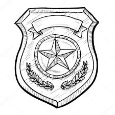 Small Picture Police Badge Coloring Page starsnuesme
