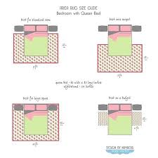 area rug size guide queen bed part 2 when matters in 5x7 under