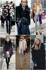 style icon olivia palermo wearing fur vest and jacket