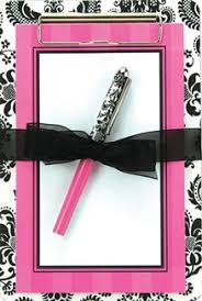 damask office accessories. Damask Clipboard, Notepad And Pen Set Office Accessories