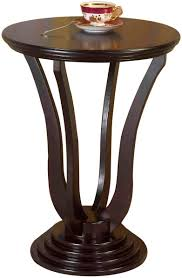 furniture com frenchi home furnishing round end table espresso small tablecloth glass tables accent wooden