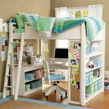 Double Loft With Desk Underneath Full Size Beds Desks Bunk Livingroom  Bathroom Home bed Beds With