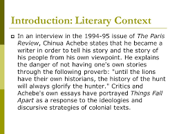 things fall apart chinua achebe introduction chinua achebe iuml deg ldquo i 4 introduction