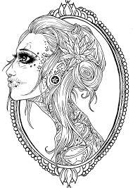 sugar skulls mandalas printables | viewing gallery for female ...