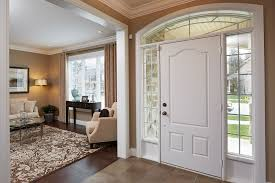 entrance steel doors white color