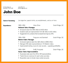 3 Types Of Resume Formats Three Sample Thekindlecrew Com