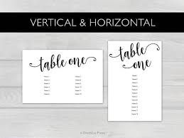 Wedding Seating Chart Cards Template 4x6 Black Printable Wedding Seating Chart Cards Tables 1 20
