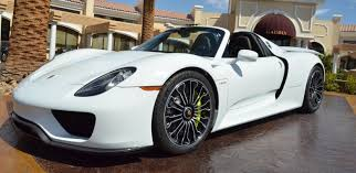 porsche 918 spyder white. white porsche 918 spyder rolling on the streets of cali h