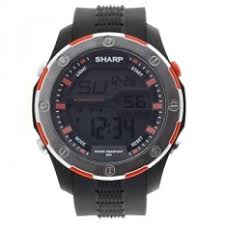 sharp watches prices. sharp mens automatic plastic and polyurethane casual watch, color:black (model: shp021) - intl watches prices