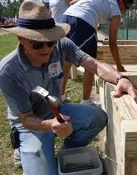 Keesler volunteers assist construction of new playground