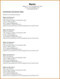 Reference List Format For Resume Resume References List Reference Page Sample Resume Reference Page