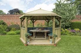 4m premium hexagonal wooden garden