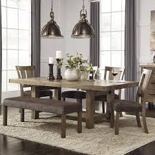 dining room table bench. Interesting Room Etolin 6 Piece Extendable Dining Set To Room Table Bench E