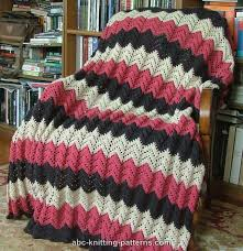 Ripple Afghan Pattern Free Fascinating ABC Knitting Patterns Lace Ripple Afghan