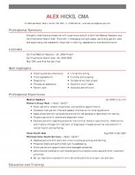 Cool Medical Assistant Sample Resumes For Your Medical Field